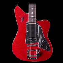 Duesenberg Paloma Red Sparkle Electric Guitar w/ Case