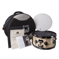 DW Collector's Series Icon Terry Bozzio - The Black Page Snare Drum