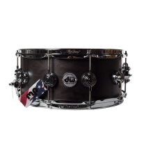 Drum Workshop DRSO0614SEC Collectors Series 6x14 Ebony Satin Classic Snare Drum
