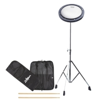 Drum Bundle 5A Sticks, Practice Pad, Stand and Zildjian Stick Bag FREE SHIPPING