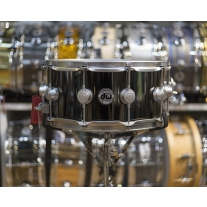 Drum Workshop 6.5x14 Black Nickel Over Brass Snare Drum w/ Satin Chrome Hardware