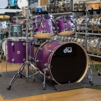 Drum Workshop Collectors Series 4pc Shell Kit in Satin Ultra Violet