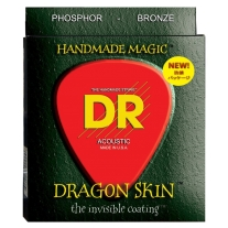 DR Strings Dragon Skin 2-Pack: Clear Coated Acoustic Phosphor Bronze