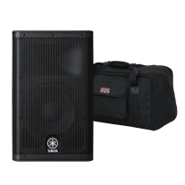 Yamaha DXR10 Powered Speaker 1x10 with Speaker Bag Bundle