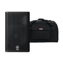 """Yamaha DXR12 12"""" Active Loudspeaker with Speaker Bag Bundle"""