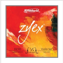 D'Addario Zyex Violin Strings 3/4 Scale