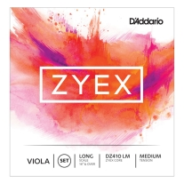 D'Addario Zyex Viola Strings Long Scale Medium Tension