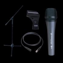 Dynamic Microphone Bundle- Sennheiser E835 Boom Stand and XLR Cable