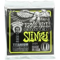 Ernie Ball 3121 Coated Titanium Regular Slinky Electric Guitar Strings