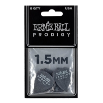 Ernie Ball Prodigy Black 1s 1.5mm Guitar Picks - 6-Pack