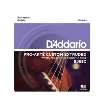 D'addario Ej65C Set UKULELE CONCERT Custom Extruded Clear Nylon