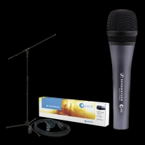 Sennheiser EPACK835 e835 Microphone, MZQ800 Clip, SEMS3000 Stand, & CJ25 Cable