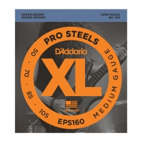 D'Addario EPS160 ProSteels Bass, Medium, 50-105, Long Scale