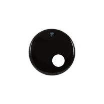 "Remo ES102200DM 22"" Ebony Ambassador Reso Head with Offset Hole"