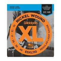 D'Addario ESXL110 Regular Light Double Ball End 10-46