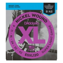D'Addario ESXL120 Super Light Double Ball End 9-42