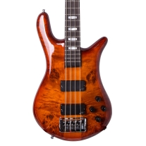 Spector EURO4LX-35 Poplar Burl Ultra Amber Gloss Limited Edition Bass w/ Bag