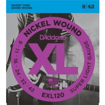 D'Addario EX120 Nickel Super Light Electric Guitar Strings
