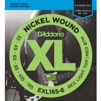 D'Addario EXL165-6 6-String Nickel Wound Bass Guitar Strings