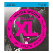 D'Addario EXL170 Nickel Wound Bright Round Wound Electric Bass St