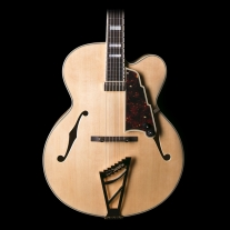 "D'Angelico EXL-1 Archtop Natural 17"" Body w/ Case"