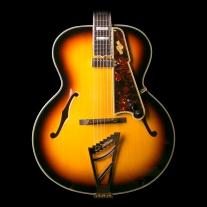 D'ANGELICO-Style B Non-Cut Archtop Sunburst Guitar w/ Case