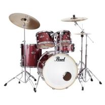 Pearl EXX725SC704 Export Series 5pc Drum Set w/ Hardware in Black Cherry Glitter