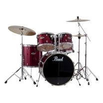 Pearl EXX725S/C 5-Piece Export New Fusion Drum Set with Hardware - Red Wine
