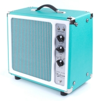 Tone King Falcon Combo Amp with Ironman Attenutor in Turquoise/ White