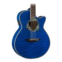 Luna Fauna Eclipse Acoustic-Electric Guitar - Trans Blue