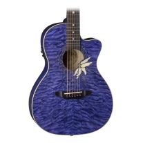 Luna Flora Passionflower Acoustic Electric Guitar