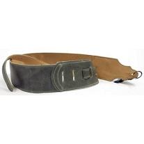 "Franklin FSWJHGY 3"" Jackson Hole Distressed Leather Guitar Strap - Gray"