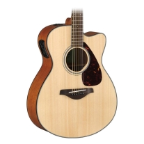 Yamaha FSX800C Small Body Acoustic-Electric Guitar, Natural