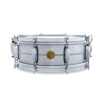 Gretch G4160-A135 Solid Aluminum Engraved 5x14 Snare Drum w/ Case