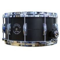 Gretsch Limited Edition 7x14 Black Aluminum Laser Etched Snare Drum