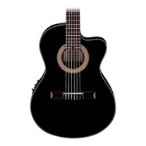 Ibanez GA35TCE-BKN Thinline Classical Acoustic Electric Guitar