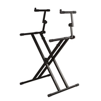 Gator Cases Frameworks Deluxe 2-Tier X-Style Keyboard Stand (Black)