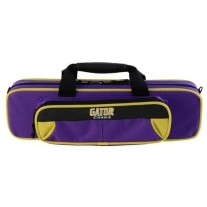 Gator Spirit Series Lightweight Flute Case- in Purple with Yellow Accents