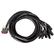 Mogami Gold AES Snake 8 Channels In & Out - DB25 to XLR, 25ft