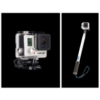 GoPro Hero 3 Plus Black Edition with GoPole Reach Telescoping Extension Pole