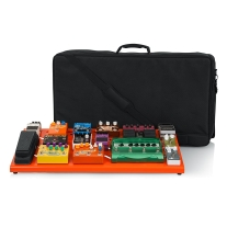 Gator Cases GPB-XBAK-OR Extra Large Aluminum Pedal Board, British Orange