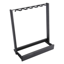 On Stage GS7563B Side-Loading Guitar Rack, Black Finish