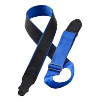 """Franklin Strap 2"""" Black Leather Hybrid Black/Blue Seatbelt HB2-BK-bL"""