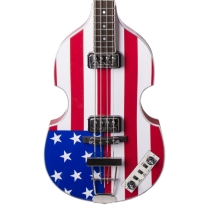 Hofner HCT500/1 Contemporary Beatle Bass Ltd Ed American Flag Finish