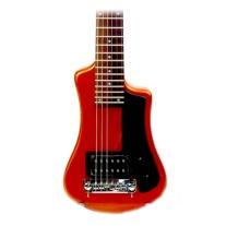 Hofner Shorty Travel Guitar - Orange Metallic W/Gig Bag