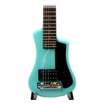 Hofner Shorty Electric Travel Guitar - Surf Green W/Gig Bag