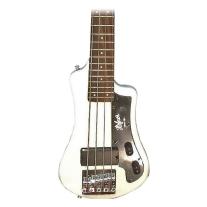 Hofner Shorty Travel Guitar - White w/ Gig Bag