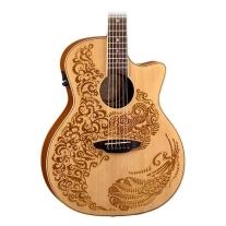 Luna Guitars Henna Paradise Acoustic/Electric Guitar - Spruce Top