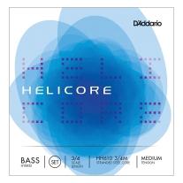 D'Addario Helicore Hybrid Bass String Set, 3/4 Scale, Medium Tension