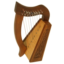 """Mid East Percussion LILY HARP KNOTWORK 8 STRINGS 15"""" HIGH ****BLEMISHED****"""